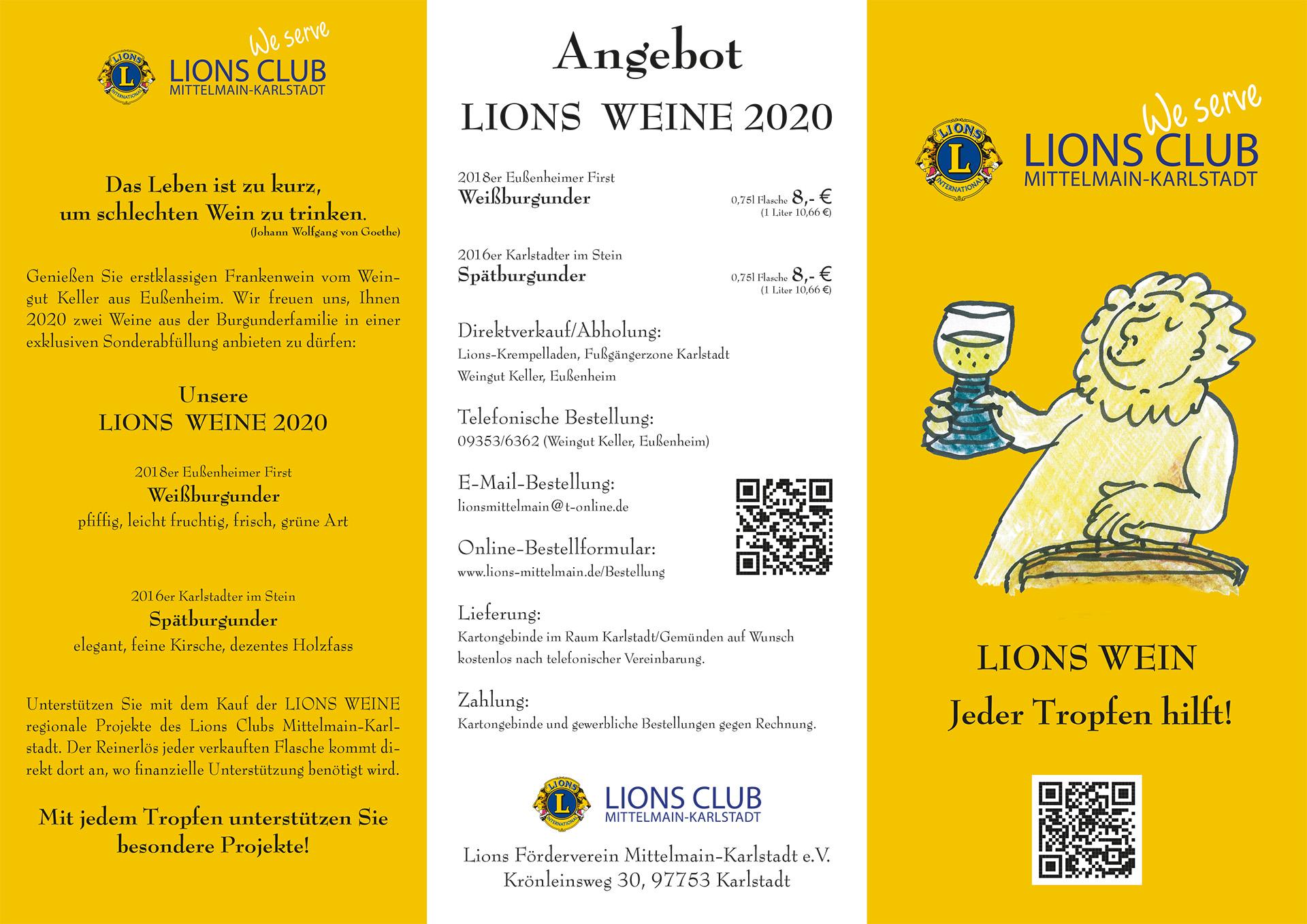Lions Wein 2020